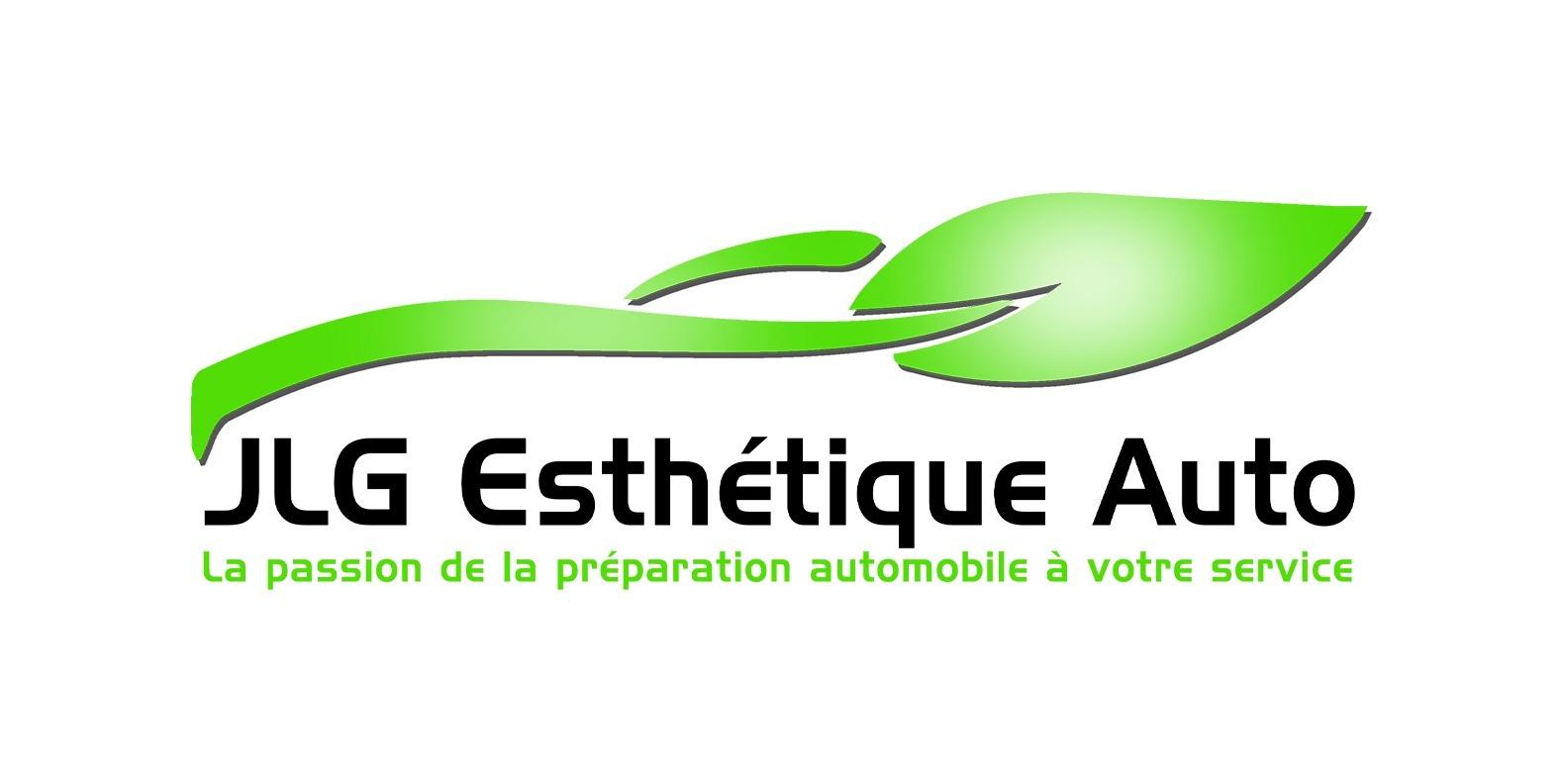 Logo JLG Esthétique Auto - Agence communication Akagi Nantes