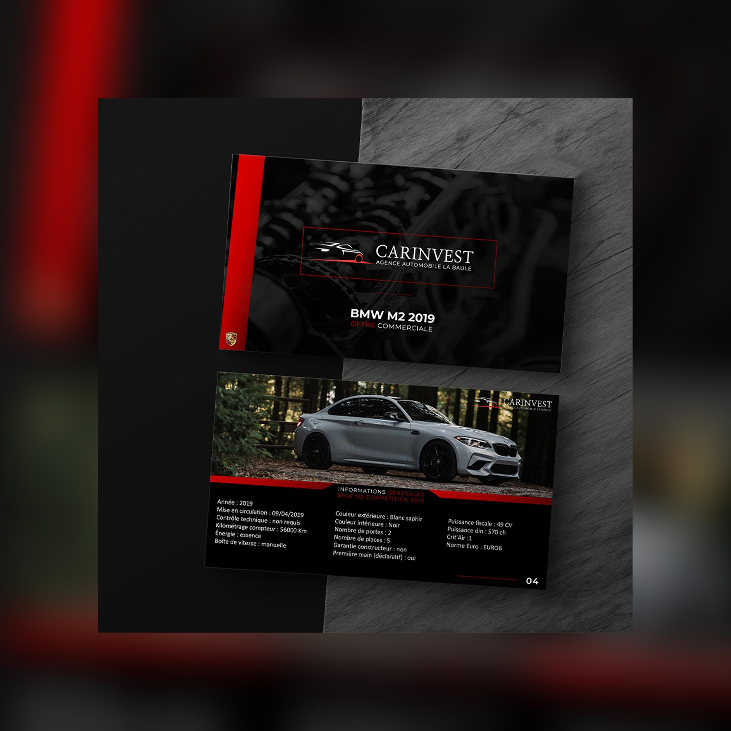 Plaquette commercial Agence Akagi Car Invest La Baule