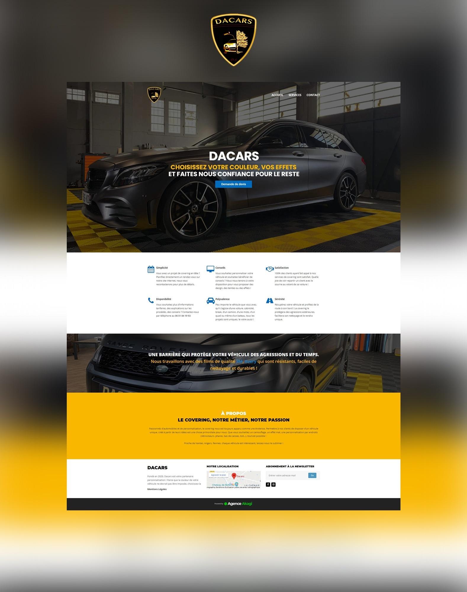 Site internet web Agence communication akagi - Dacars