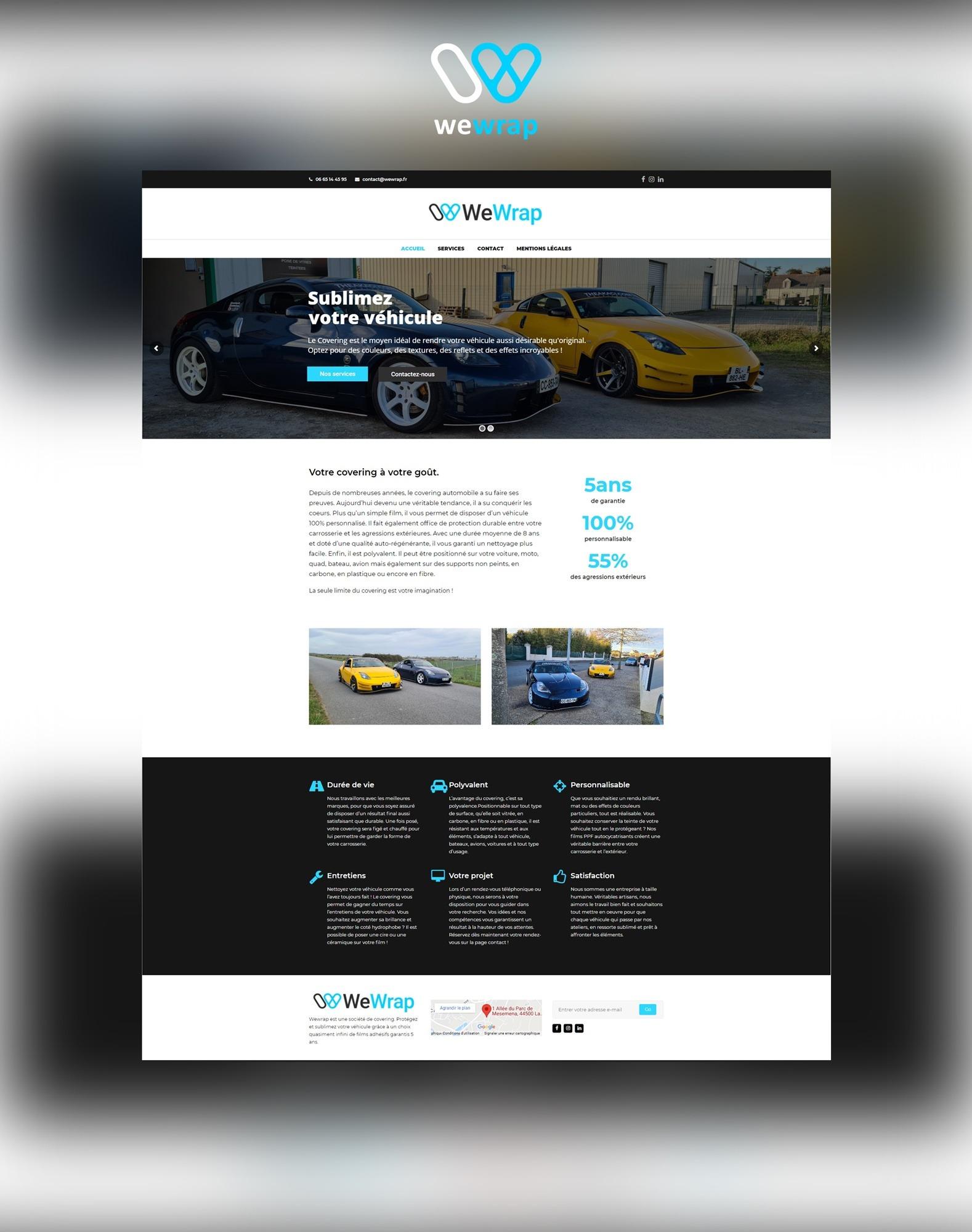 Site internet web Agence communication akagi - We Wrap