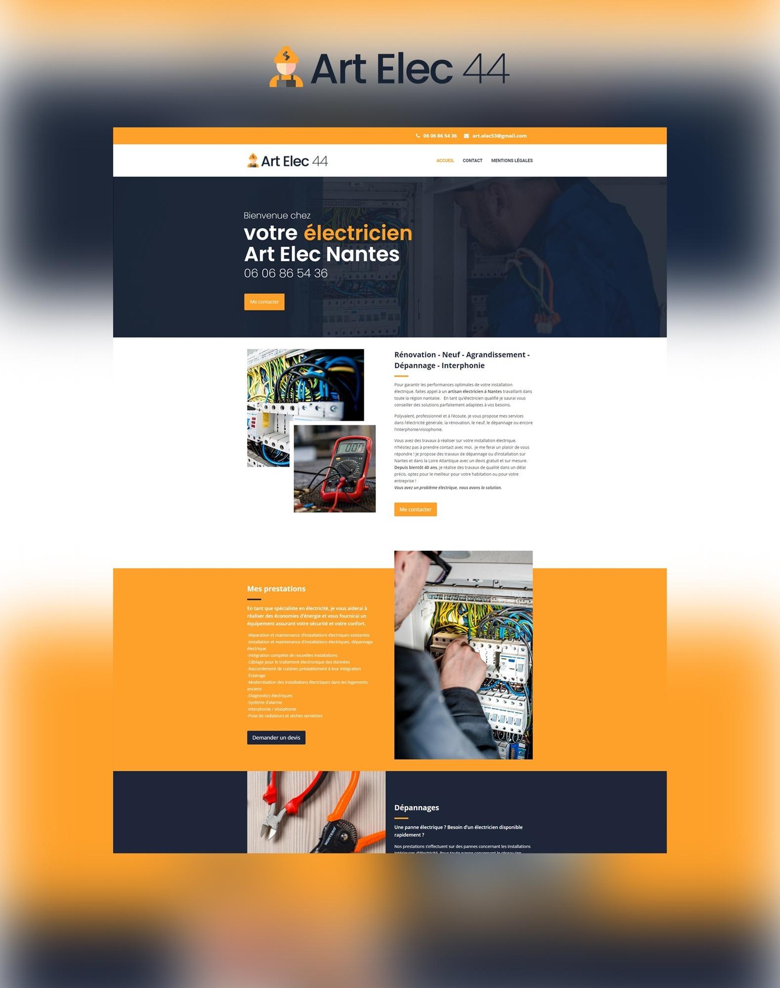 Site internet web Agence communication akagi - Art Elec 44