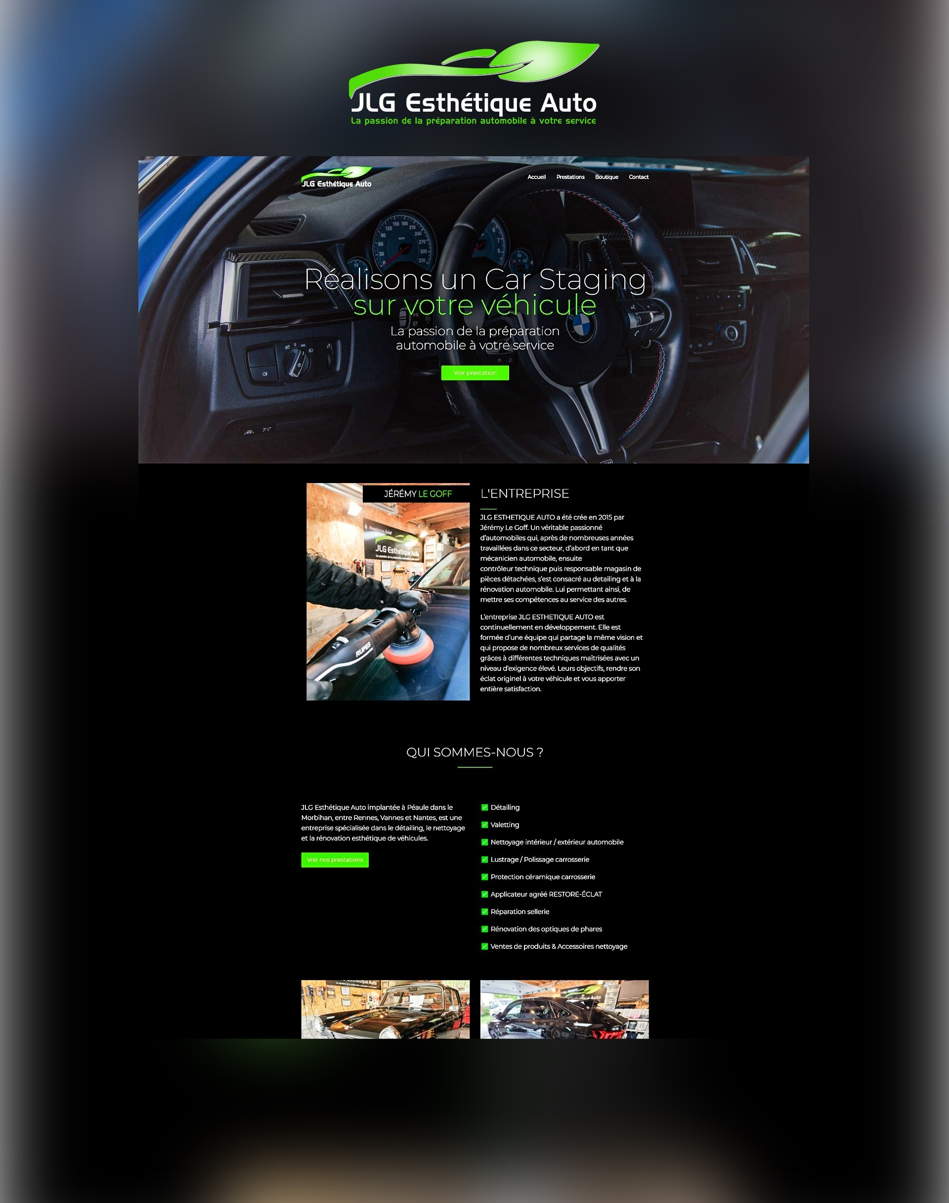 Site internet web Agence communication akagi - JLG Esthétique Auto