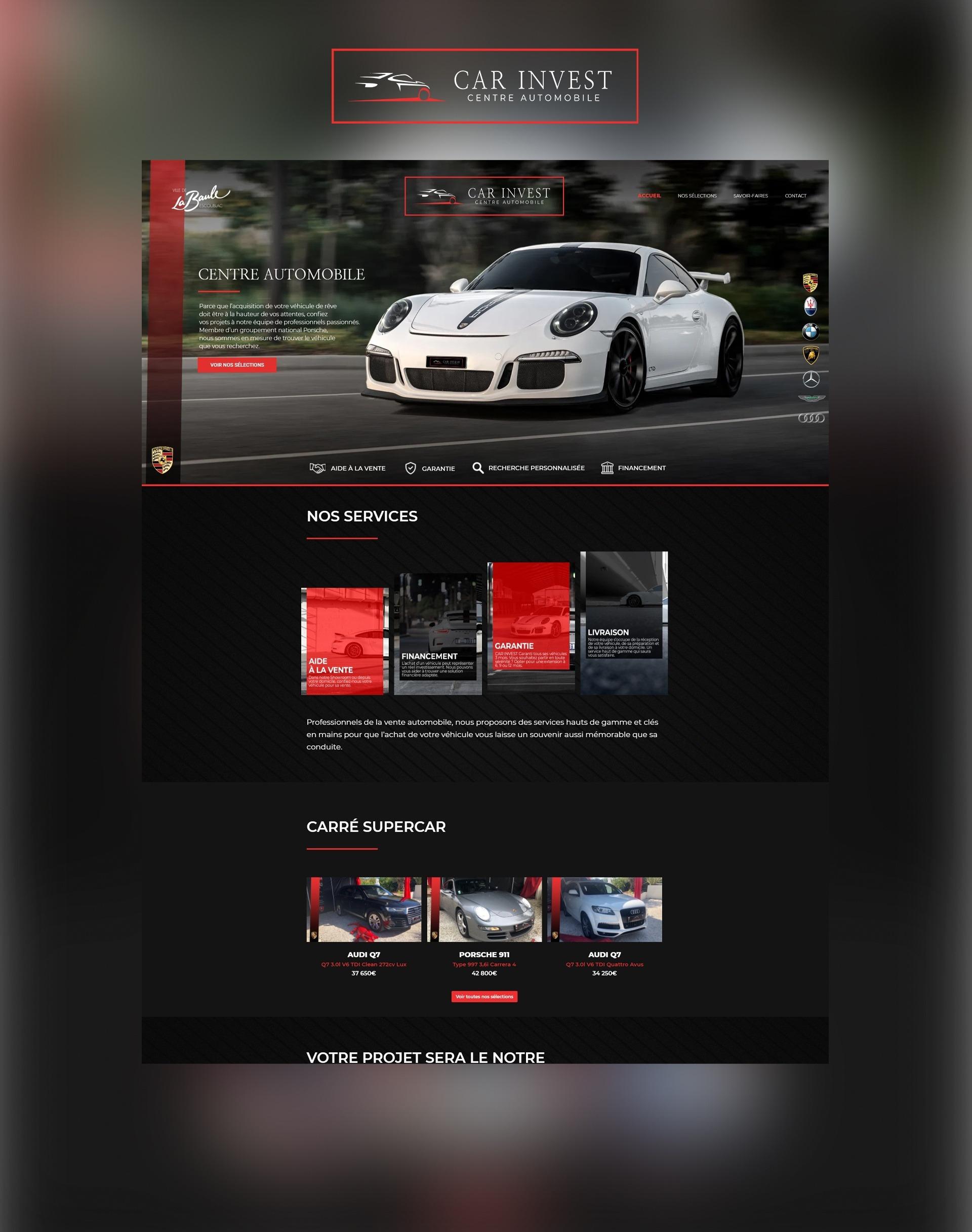 Site internet web Agence communication akagi - Car Invest La Baule
