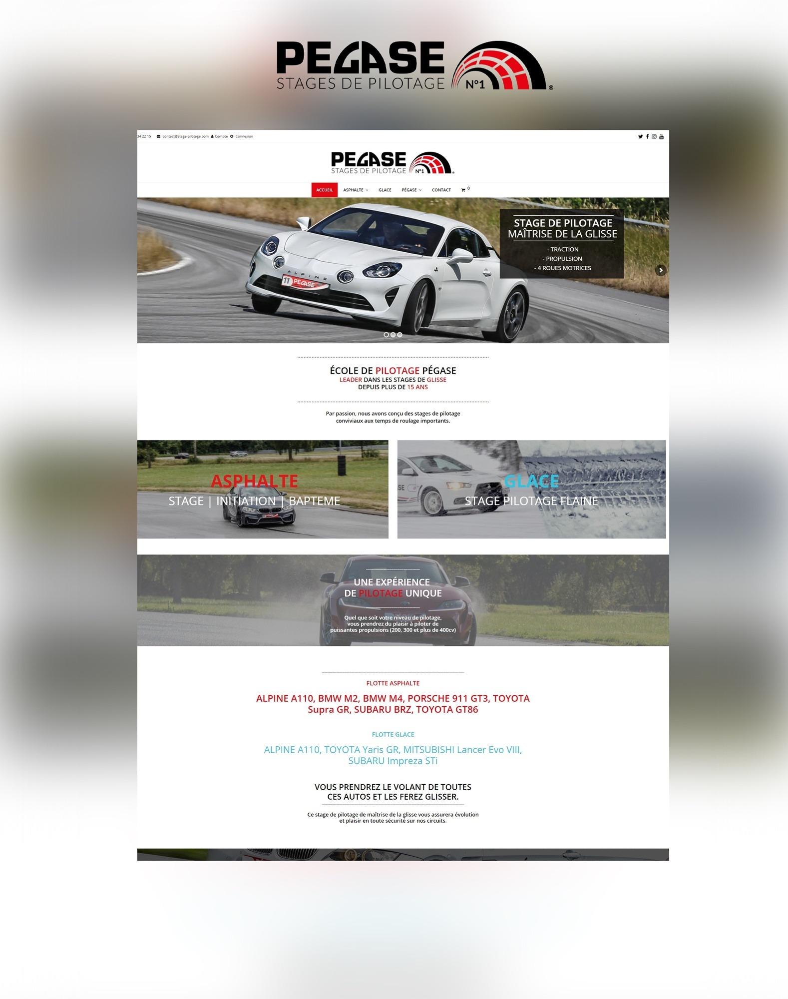 Site internet web Agence Akagi pégase stage pilotage