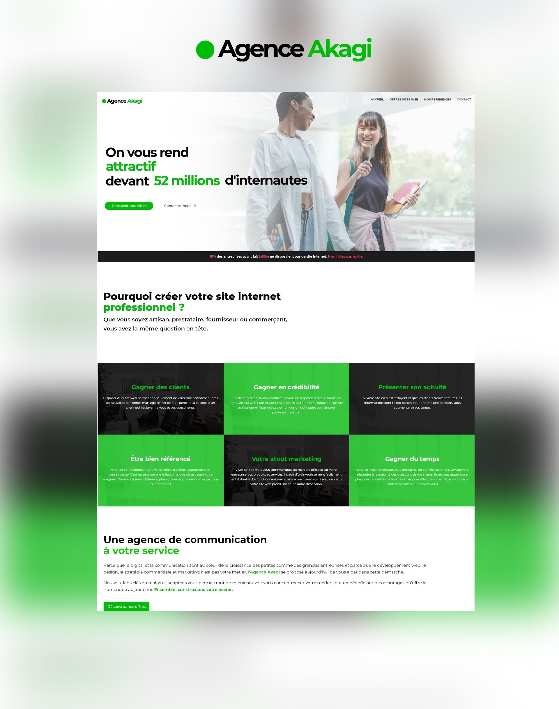 Site internet web Agence Akagi Nantes